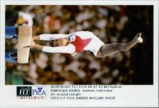 Gymnast Dominique Dawes during the 1996 Olympic Games