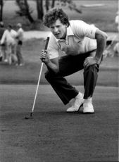 Portrait of the golfer Per-Arne Brostedt in action
