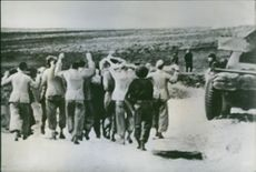 German soldiers captured in North Africa.