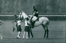 Princess Maria Gabriella on horse.