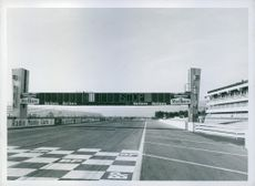 View of a formula one racing track. 1972.