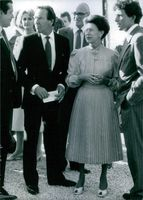 Princess Margaret and Lord Snowdon at the opening of Viscount Linley's new workshop in the Cotswolds. 1987.