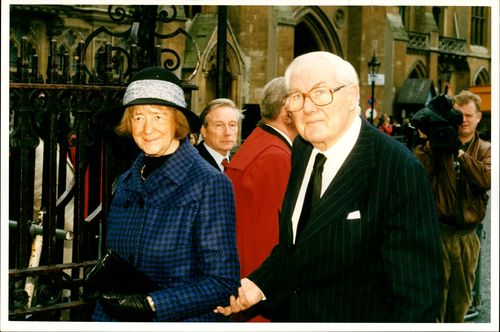 James Callaghan with his Wife.