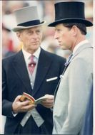 Prince Philip and Prince Charles at the Derby