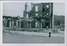 War damages in Norway during the German occupation. 1941