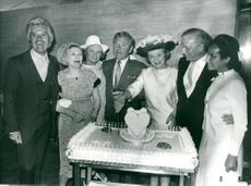 Kenneth More celebrates his birthday with loved ones