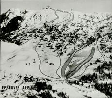 Illustration of the Slalombacks at the Winter Olympics in 1968