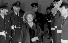 Queen Elizabeth, Queen Mother, at the ceremony of the Air Base RAF Marham