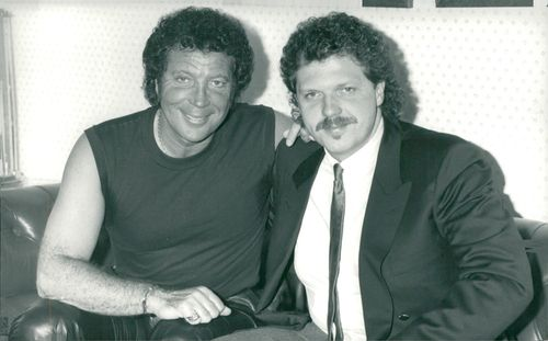 Tom Jones along with his son Mark Jones.