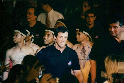 Sylvester Stallone opens the Planet Hollywood restaurant in Bangkok