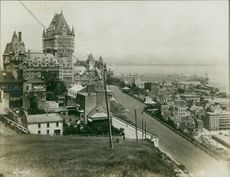 A 1930's view of Quebec city