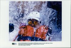 OS in Atlanta. Canoeing lodge at Whitewater center. A bodyguard cools in the heat