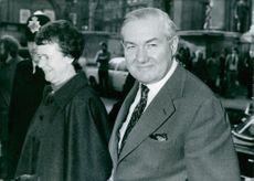 Leonard James Callaghan with Audrey Elizabeth Callaghan, smiling.