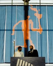 The Olympic fire arrives in Stockholm with Thomas Wassberg, who then leaves it to Juha Mieto, Finland.