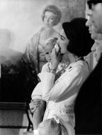 Juan Carlos I`s wife Sophia with their daughter.