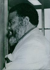 Sideview of South African politician Sam Nujoma, 1978.