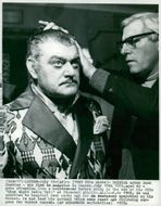 Jack Hawkins fixes before the recording of