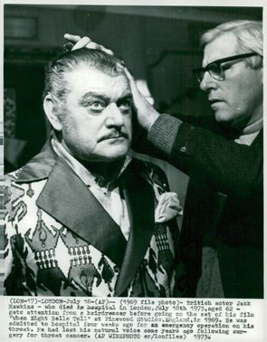 """Jack Hawkins fixes before the recording of """"When eight bells toll"""""""
