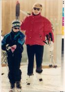 Princess Diana along with Prince Harry in the ski slope