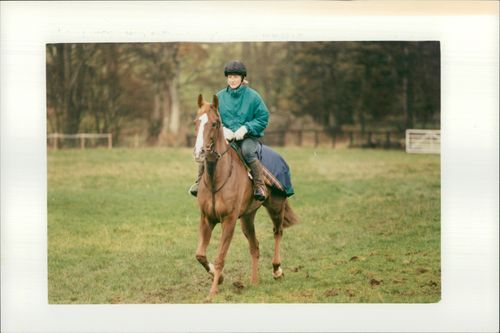 British equestrian Lucinda Green with horse 'McGregor' the Third