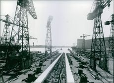 Empty Slipways at Bremen Shipyards