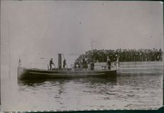 Russo-Japanese War 1904-1905 Soldiers line up to load the boat