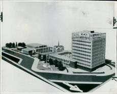 Model of the proposed Carlisle Civic Centre.
