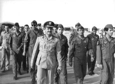 Air Commodore Ahmed Nasr Walking with Egyptian Air Force Pilots During Iraq-Iran War on 1980.