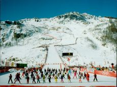 Ski slope at the Winter Olympics in Albertville 1992