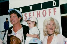 David Hasselhoff and Janet Lozano