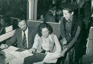 Schools 1970-1979:Commuters on british rail's.
