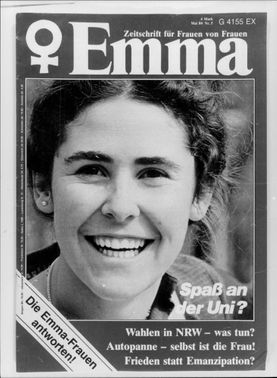 """First page of the magazine """"Emma"""" from May 1980"""