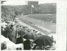 The fourth 100 meters heat watered by Enrique Figuerola during the Olympic Games
