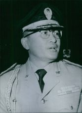 Vintage photograph of Brigadier-General Sutjipto.