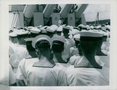 American Admiral Chester L. Nimitz visited H.M.S. King George V