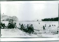 Soldiers during the Battle of Liaoyang, 1904.