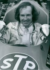Portrait of british racing driver John Nicholson, 1972.