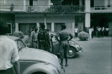 Officers on a check point. 1954