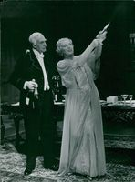 "Olov Winnerstrand and Pauline Brunius in ""Gold wedding"" at Dramaten"