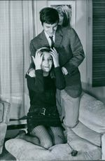 French actress Danielle Gaubert having a joyful time with her husband Olympic ski champion Jean-Claude Killy
