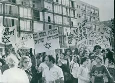 Pro-Zionist Demo in Israel. 1975.