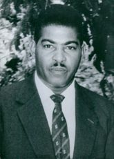 Portrait of british Guiana politician , C.V Nunes, 1961.