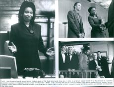 "Whoopi Goldberg, James Timothy ""Tim"" Daly and Eli Herschel Wallach in the scenes of the movie, ""The Associate""."