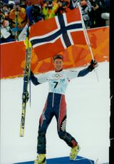 The Olympic gold medalist in slalom comes from Norway and is Hans-Petter Buraas.