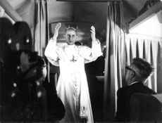 Pope Paul VI inside plane.