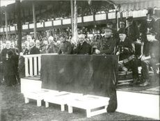 The opening of the Olympic Games in the Stockholm Stadium