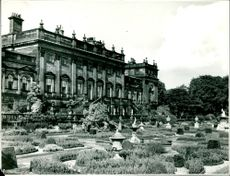 The Harewood House in a Big Garden.