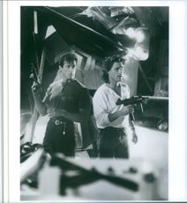 Still of Sylvester Stallone and Kurt Russell in Tango & Cash.