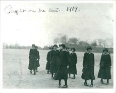 Women's Royal Naval Service:New wrens drilling.