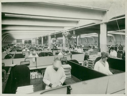 Sorting of cigarettes - Tobacco monopoly factory